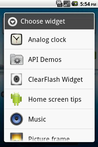 ClearFlash Widget