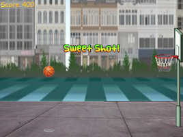 Screenshot of Basketball Street Hoop
