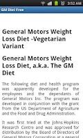 Screenshot of GM Diet Free