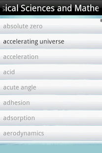 Dictionary Of Science - screenshot