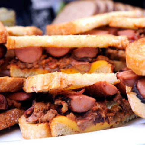 Hot Dog Chili Cheese Sandwich