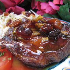 Saucy Pork Chops With Cranberries for the Crock Pot!