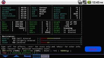 Screenshot of BlowTorch MUD Client