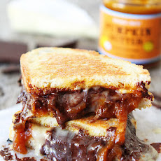 Pumpkin, Chocolate, and Brie Grilled Cheese