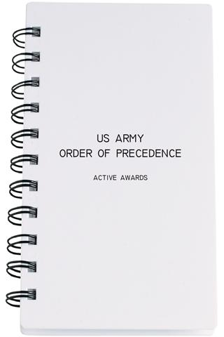 US Army Order Of Precedence