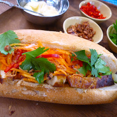 Vegetarian Banh Mi With Marinated Sesame Tofu