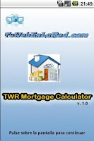 Screenshot of TWR Mortgage Calculator