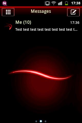 短信主題簡單的紅色 GO SMS Theme Simple