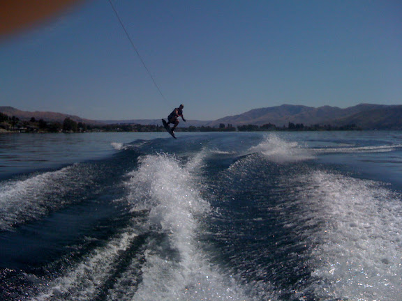 Nick jumping the wake