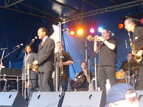 Optreden met Wendell Brunious (trompet) en Freddie Lonzo (trombone)
