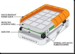 LaCie rugged interior