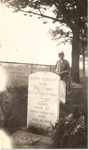 WEBSTER, Aaron WEBSTER & Sarah NORTON Gravestone 01