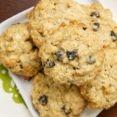 Blueberry-White Chocolate Oatmeal Cookies