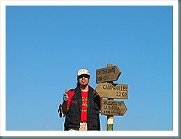 Cruce en el Coll de la Palma