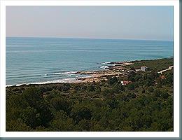 Playas Pebret y Rusto desde Despoblado de Irta