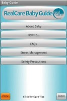 Screenshot of The RealCare Baby Guide app