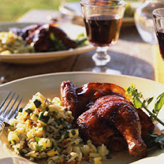 Bacon-Wrapped Cornish Hens with Raspberry Balsamic Glaze