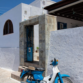 colour matching by Vibeke Friis - Transportation Motorcycles ( blue and white )
