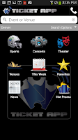 Screenshot of TICKET APP - Concerts & Sports