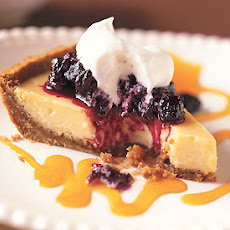 Key Lime Pie with Passion Fruit Coulis and Huckleberry Compote