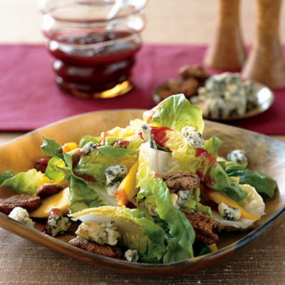 Bibb Lettuce Salad with Persimmons and Candied Pecans