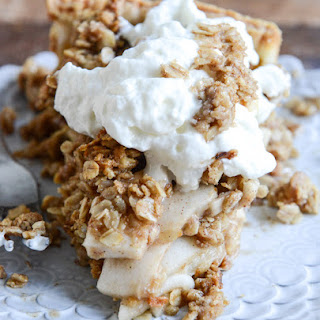 Cider Bourbon Apple Pie with Oatmeal Cookie Crumble