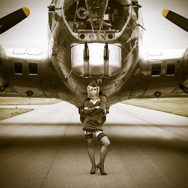 Army Brat by Andy Chow - Transportation Airplanes ( yankee lady, b-17 )