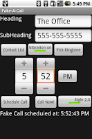 Screenshot of Fake-A-Call