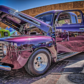 Purple Truck by Ron Meyers - Transportation Automobiles