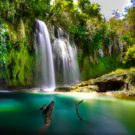 Waterfall by Aydın Kurhan - Landscapes Travel ( water, nature, waterfall, ladscape )