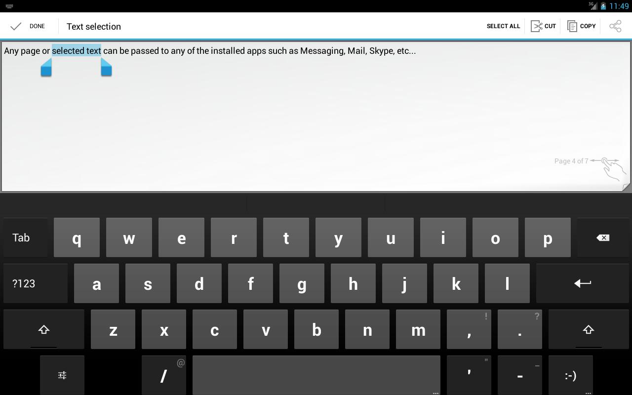 Notizblock – Screenshot