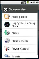 Screenshot of Happy Hour Clock Widget