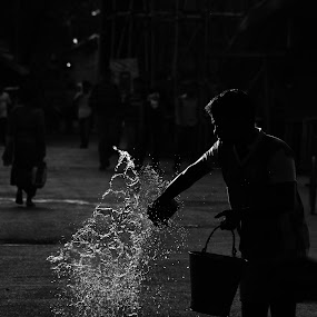 Splash by Souvik Kundu - Black & White Street & Candid ( splash, black and white, streets, photography )