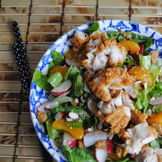 ASIAN STYLE SALAD with Creamy Orange Ginger Dressing