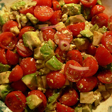 Diced Avocado-Tomato Salad With Parsley-Lemon Vinaigrette