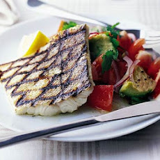 Grilled Fish With Chunky Avocado Salsa
