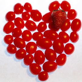 Healthy Heart by Steve Wieseler - Food & Drink Fruits & Vegetables ( red, heart, loveland colorado, strawberry, tomatoes )