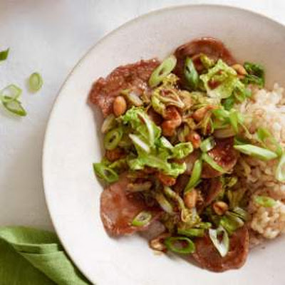 Napa Cabbage & Pork Stir-Fry with Peanuts
