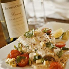 Sea Bass With Potato Rosti And Cherry Tomato Salad