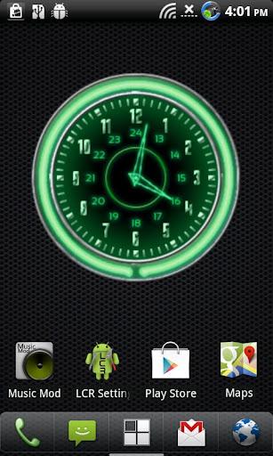 10個綠色霓虹燈鐘