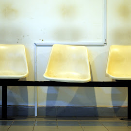 The Wait by Shukri Jahari - Artistic Objects Furniture ( building, hall, seat, waiting, education )