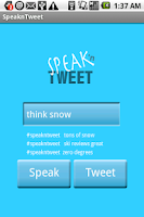 Screenshot of SpeaknTweet Lite