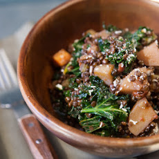 Black Beluga Lentil and Kale Stew with Rosemary