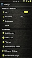 Screenshot of Leather Yellow CM11/AOKP Theme