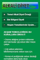 Screenshot of Alkali Diyet
