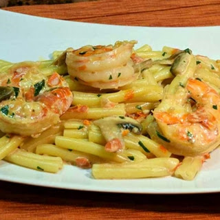 Tomato Cream Pasta with Shrimp or Chicken