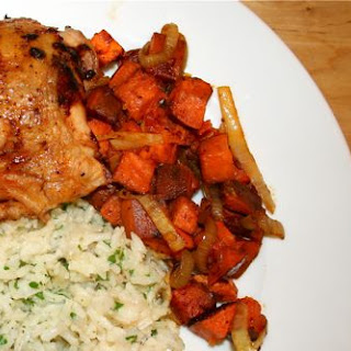 Chili Roasted Chicken and Sweet Potatoes
