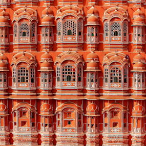 Windows 1799 by Sridhar Balasubramanian - Buildings & Architecture Architectural Detail ( hawa mahal, jaipur, rajasthan, india, windows,  )