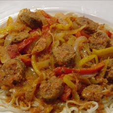 Am's Spicy Sausage, Onion & Pepper Ragu