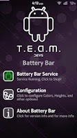 Screenshot of T.E.A.M. Battery Bar